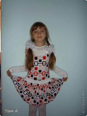 В таких платьях мои девочки ходили зимой в садик. Полюбила шить из трикотажа!!! Легко, просто и красиво!!!  фото 2