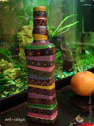 Вдохновленная работами по росписи бутылок фото 4