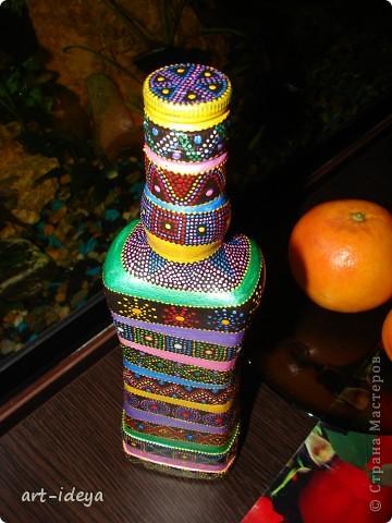 Вдохновленная работами по росписи бутылок фото 6