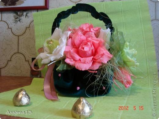 Розы в бархате или просто сумочка фото 1