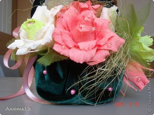 Розы в бархате или просто сумочка фото 5