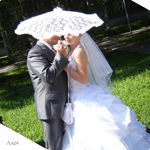 Делала впервые, из гипюра и кружева, каркас - детский зонтик. фото 2