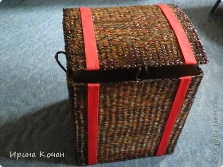 Плетеный сундук фото 2
