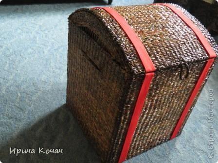 Плетеный сундук фото 1
