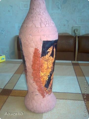 Декор предметов Декупаж Бутылка Греция Бисер Бутылки стеклянные Гуашь Скорлупа яичная фото 6