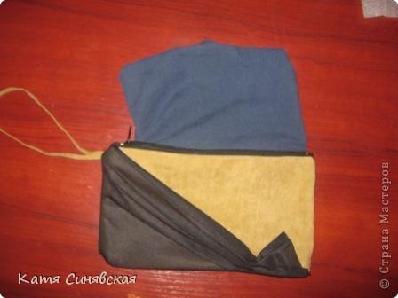 Вот такой клатч(или косметичка,сама не пойму)у меня получился с остатка замши,которую я использовала на сумку. фото 16