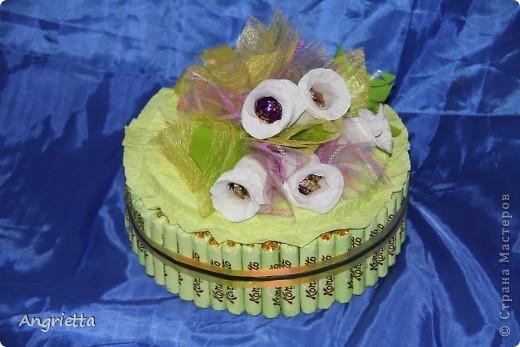 Тортик из конфет фото 2