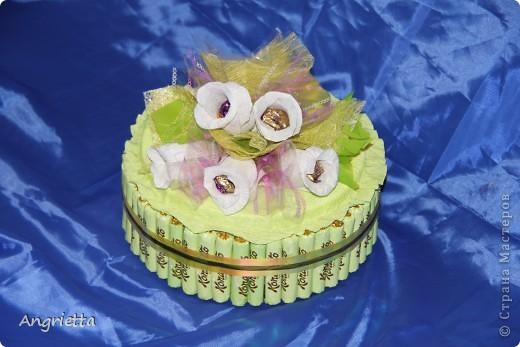 Тортик из конфет фото 3