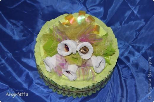 Тортик из конфет фото 4