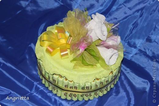 Тортик из конфет фото 5