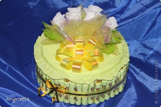Тортик из конфет фото 6