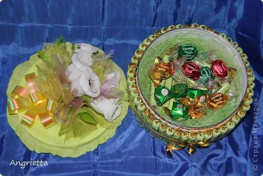 Тортик из конфет фото 7