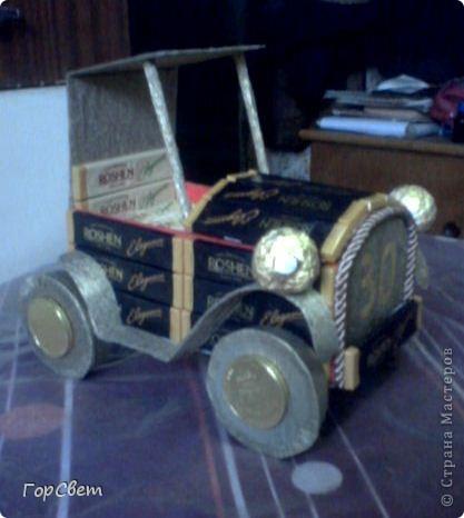 Сделала на день рождения коллеге такой вот автомобиль. Как получилось- судить вам. фото 3
