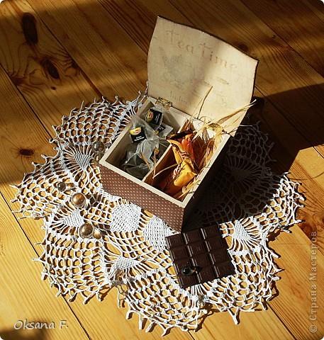 Сотворилась у меня коробка для чайных пакетиков и для всяких всякостей) фото 6