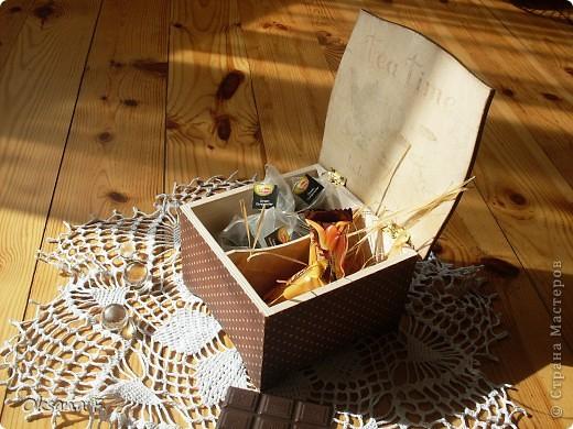 Сотворилась у меня коробка для чайных пакетиков и для всяких всякостей) фото 3