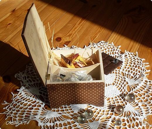 Сотворилась у меня коробка для чайных пакетиков и для всяких всякостей) фото 10