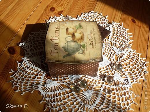 Сотворилась у меня коробка для чайных пакетиков и для всяких всякостей) фото 2