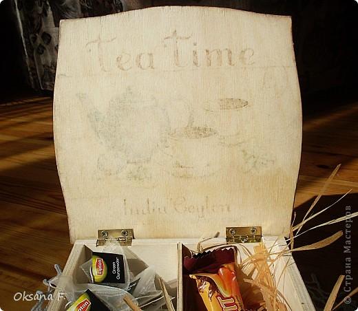 Сотворилась у меня коробка для чайных пакетиков и для всяких всякостей) фото 4