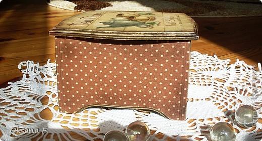 Сотворилась у меня коробка для чайных пакетиков и для всяких всякостей) фото 7