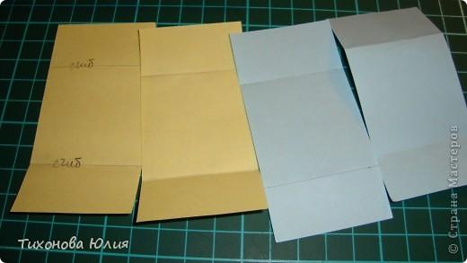 Так выглядит первый разворот альбома. Для работы понадобится 2 листа бумаги для пастели 21*21 см разных цветов. 8 фотографий 10*10см. Клей или узкий двусторонний скотч. фото 8