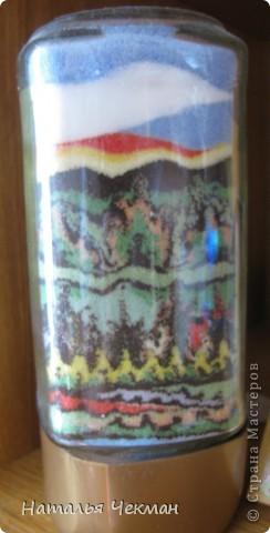 Такие пейзажи получаются у меня из цветной соли и кофе фото 11