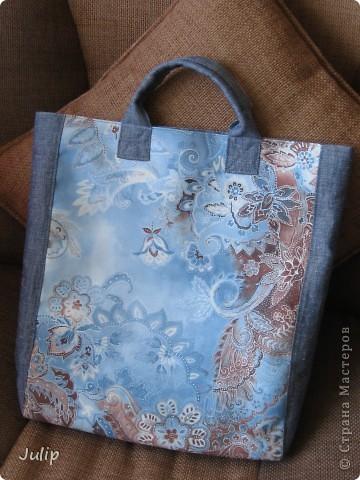 Очень понравился кусок ткани (лицевая сторона сумки) благодаря которому и получилась эта сумка. фото 2