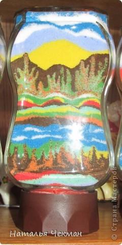 Такие пейзажи получаются у меня из цветной соли и кофе фото 6