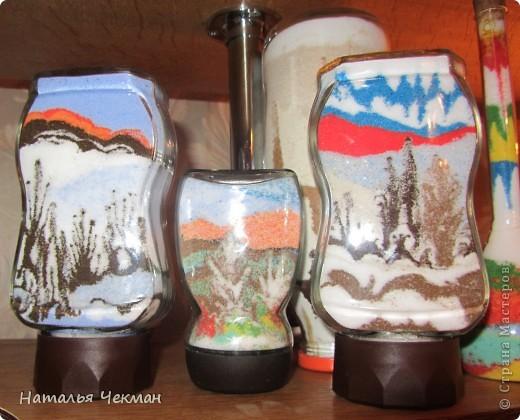 Такие пейзажи получаются у меня из цветной соли и кофе фото 7