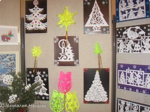Эти вырезаночки готовились к новогодней выставке фото 4