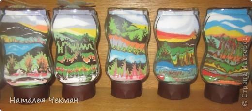 Такие пейзажи получаются у меня из цветной соли и кофе фото 2