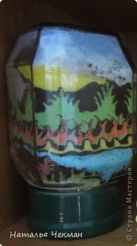 Такие пейзажи получаются у меня из цветной соли и кофе фото 10