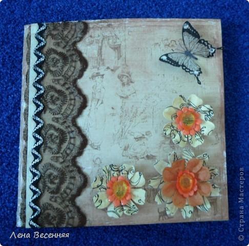 Всем Здравствуйте!!! Хочу показать открытки, которые сделала, на мой взгляд, из очень красивой бумаги для скрапбукинга. Из 1 листа бумаги получаются 2 совершенно разные открытки (на фото 1 и 5). Эту открытку подарила маме на День рождения. Цвет немного искажён.  фото 5