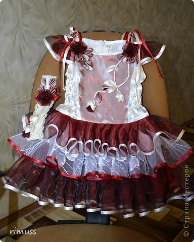 здравствуйте все! представляю мое творение для девочки на 1 годик платье и повязка на голову фото 2