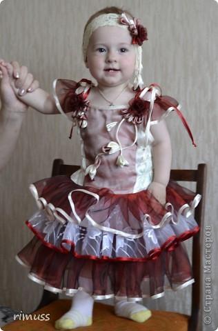 здравствуйте все! представляю мое творение для девочки на 1 годик платье и повязка на голову фото 1