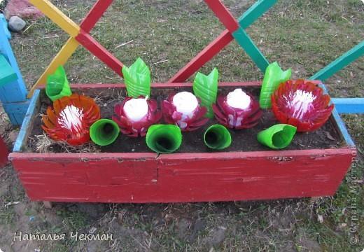 Несколько моих творений из пластиковых бутылок. Это далеко не все, но, к сожалению, я раньше не фотографировала. фото 7
