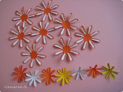 Приглашаю всех, (кому интересно) на мою рабочую ,,кухню,, Предлагаю вам рецепт ,,Георгин из дырокольных цветов,, фото 3