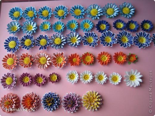 Приглашаю всех, (кому интересно) на мою рабочую ,,кухню,, Предлагаю вам рецепт ,,Георгин из дырокольных цветов,, фото 13