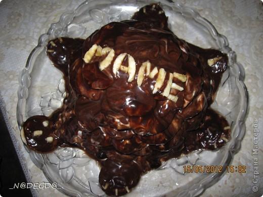Вот такой тортик я пекла маме на день рождения ))) фото 1