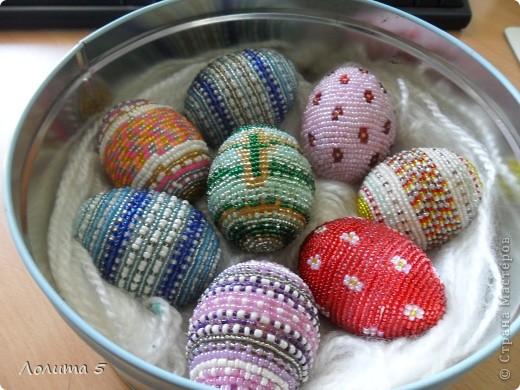 бисерные яйца фото 1