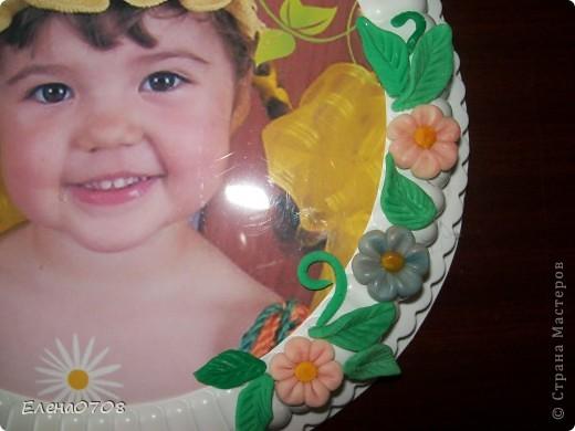 Такуф рамочку для фото я сделала из донышка от пластиковой коробки из-под торта. фото 4