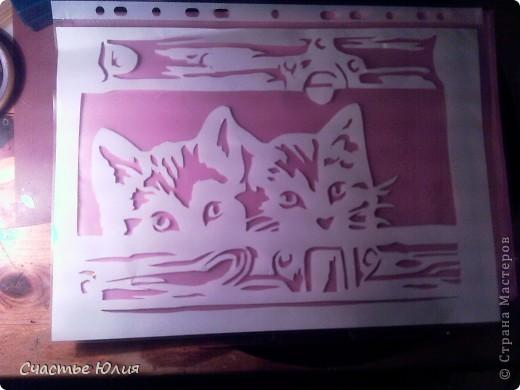 вытынанки. повторяшки. гепард. девушка с зонтом. котята и тп. фото 5