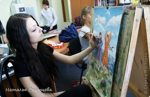 Преддипломная работа моей дочки в худ. школе. фото 2