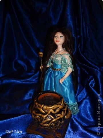 Куколка из керапласта, волосы натуральные, человеческие, масляные краски.