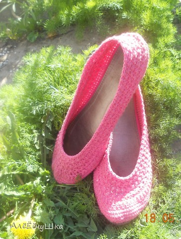 началось все с того,что износилась сумка из розового комплекта(балетки+сумка) фото 1