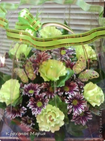 композиции из конфет и цветов фото 2