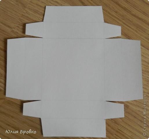 Приветик!!! Сегодня покажу обещанный МК по коробочкам-сюрпризам или Magic-box!  Итак, начнем... Материалы: - бумага для акварели (у меня основа белая, можно использовать любой цвет); - скрапбумага; - двухсторонний скотч. Материалы для украшения: - бумажная салфетка, - бумажные плоские цветы, - полубусины, - атласная лента и прочие украшения, а также инструменты (фигурные ножницы, фигурные дыроколы и т.д.) фото 4