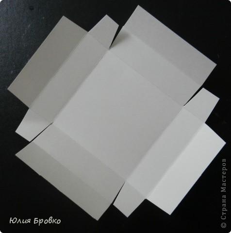 Приветик!!! Сегодня покажу обещанный МК по коробочкам-сюрпризам или Magic-box!  Итак, начнем... Материалы: - бумага для акварели (у меня основа белая, можно использовать любой цвет); - скрапбумага; - двухсторонний скотч. Материалы для украшения: - бумажная салфетка, - бумажные плоские цветы, - полубусины, - атласная лента и прочие украшения, а также инструменты (фигурные ножницы, фигурные дыроколы и т.д.) фото 5