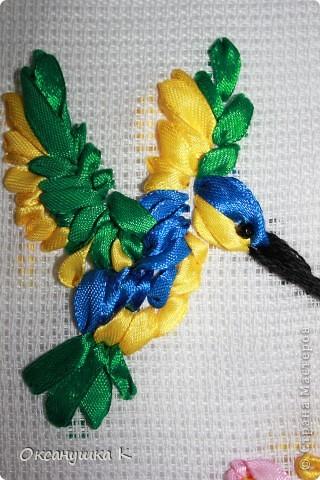Очень вдохновилась работами Изули, ее прекрасными работами вышивки лентами. И вот что у меня получилось на первом этапе освоения этой техники. фото 5