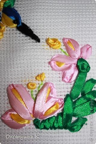 Очень вдохновилась работами Изули, ее прекрасными работами вышивки лентами. И вот что у меня получилось на первом этапе освоения этой техники. фото 6