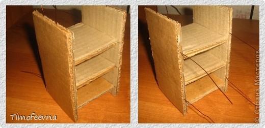 Здравствуйте!! В этом блоге я хочу показать небольшой МК очередной моей мебели из картона для куклы Барби младшей дочки. А именно процесс создания письменного стола. фото 16